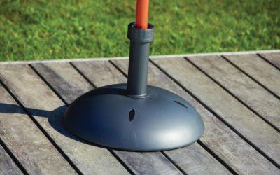 Les avantages d'un pied de parasol en fonte